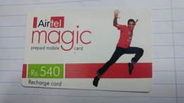 India-airtel Magic-(78)(rs.540)(new Delhi)(0298394530063160)(look Out Side)used Card+1 Card Prepiad Free - Inde
