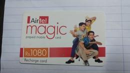 India-airtel Magic-(79)(rs.1080)(new Delhi)(0311381028807430)(look Out Side)used Card+1 Card Prepiad Free - India
