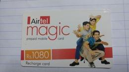 India-airtel Magic-(79a)(rs.1080)(new Delhi)(0320381933616996)(look Out Side)used Card+1 Card Prepiad Free - India