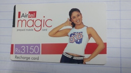 India-airtel Magic-(80)(rs.3150)(new Delhi)(0230394141918687)(look Out Side)used Card+1 Card Prepiad Free - Inde