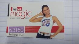 India-airtel Magic-(80)(rs.3150)(new Delhi)(0230394141918687)(look Out Side)used Card+1 Card Prepiad Free - India