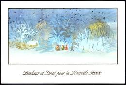 Ruth. CHRISTENSEN ** LE SPECTACLE DE L'HIVER ** Artiste Peignant Avec La Bouche  Belle CP - Peintures & Tableaux