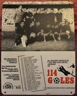 ÚNICO ANTIGUO CARTEL DE SALA DE CINE PELICULA NODO 114 GOLES IMAGEN FC BARCELONA 1958-59 - Fútbol
