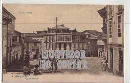 MOnforte, Lugo, Plaza Mayor, Postal Antigua - Lugo