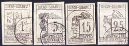 Diego Suarez 1890 Yv/Mi 6-9 Série Complète! Probablement Faux, Oblitéré O, Je Vends Ma Collection! - Diego Suarez (1890-1898)