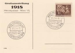 DEUTSCHES REICH 1943/44 - MASSENKUNDGEBUNG - GROSSAUSSTELLUNG 1918, 1943/1944 - Stempel Wien Messepallast Mit Deut ... - Allemagne