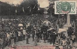 CPA Voyage Du Ministre Des Colonies à La Côte D'Afrique - Dahomey - Porto-Novo - Arrivée Au Gouvernement - Benin