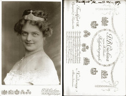 Vintage Photo 1909 CDV Cabinet Card By CIOLINA, Frankfurt Germany THEATER Portrait Of Youg Actress With Crown - Fotos