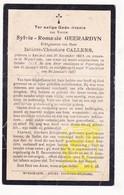 DP Oorlogsvluchtelinge WO I 14-18 Sylvie R. Geerardyn ° Kemmel 1864 † Poperinge 1915 X I. Callens / Begr Wijtschate 1927 - Images Religieuses