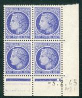Lot B064 France Coin Daté Cérès Mazelin N°674 (**) - Dated Corners