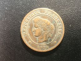 1872 K Francais France 5 Centimes - C. 5 Centimes