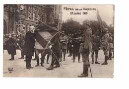 Guerre 1914 1918 Fetes De La Victoire 13 Juillet 1919 Embrasse Le Drapeau - War 1914-18