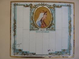 CHROMOS-ALMANACH  CALENDRIER  1869  EFFEUILLER   ALLEGORIE  Portrait  Chromo-LITHOGRAPHIE - Calendriers