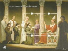 Portugal 2009 800th Anniv Franciscan Order - Pope Innocent III Souvenir Sheet MNH - Christianity