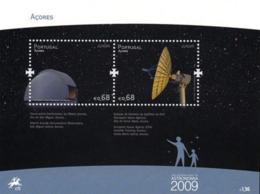 Portugal  Azores Açores 2009 Europa CEPT - Space  Souvenir Sheet MNH - 2009