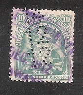Perfin/perforé/lochung British South Africa Company SG RH89  14 12 12 - Stamps