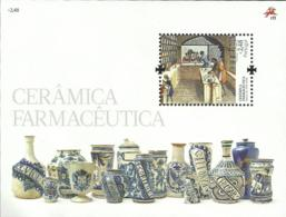 Portugal 2008 Ceramic Pharmacy Jars Souvenir Sheet Of 1 MNH - Andere