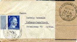 Double Cachet De Propagande Touristique De FINSTINGEN (FENETRANGE) Daté Du 16/07/1944 - Alsace-Lorraine