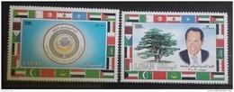 Lebanon 2002 Mi. 1417-1418 Complete Set 2v. MNH - Arab Leaders Summit, Beirut - Flags, President - Lebanon