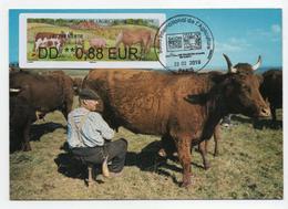 Atm, Brother,CARTE MAXIMUM, FDC, Vache, Salon De L'agriculture, DD 0.88€, Issue Du Pack De 4 Valeurs Vendu Sur Le Stand - 2010-... Geïllustreerde Frankeervignetten