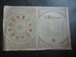 ALMANACH  CALENDRIER 1914  LE ZODIAQUE  Allégorie Des Signes  LITHOGRAPHIE Edité Par A-G Cabrol - Calendriers