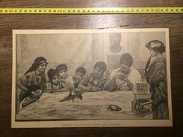 DOCUMENT 1897 COMBAT DE CAILLES A ROME DE ROCHEGROSSE - Colecciones