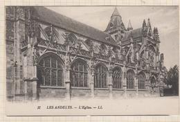 9AL528 LES ANDELYS L'EGLISE CARTE PUB ANGELUS ELECTRO AUTOMATIQUE MAMIAS 2 SCANS - Les Andelys