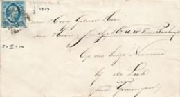 Nederland - 1857 - 5 Cent Willem III 1e Emissie, Op Omslag Van HRF LEEUWARDEN C Naar Leek Bij Groningen - Covers & Documents