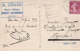 Cachet H.GODARD - Hôpital Militaire - BOURBON L'ARCHAMBAULT (Allier) & Cachet DAGUIN Sur CP - Cachets Militaires A Partir De 1900 (hors Guerres)