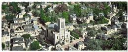 VILLERS Sur MER -, Carte Panoramique -en Avion Au Dessus De L'église - Voyagée 1959- Bon état- Format 8.5x22 - Villers Sur Mer