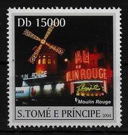 ST THOME ET PRINCE  N° 1873 * * ( Cote 6e ) Moulin Rouge - Mühlen