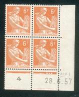 Lot C025 France Coin Daté Moissonneuse N°1115 (**) - Dated Corners