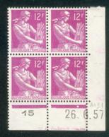 Lot C052 France Coin Daté Moissonneuse N°1116 (**) - Dated Corners