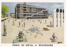 75 Paris Orgie De Métal à Beaubourg (2 Scans) - Musées