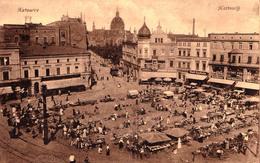 KATTOWICE / KATTOWITZ : MARKET / STADT APOTHEKE / KAUFHAUS KARL SCHWERIN / ... - ANNÉE / YEAR ~ 1910 - '915 (aa626) - Polen