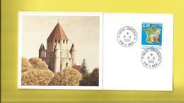 PROVINS Champbenoist Sur Carton D'invitation De La Poste Création Bureau De Poste  Le  17 11 1990 - Brieven En Documenten