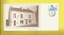 NANTEUIL Les MEAUX  Sur Carton D'invitation De La Poste Création Bureau De Poste  Le  14 05 1988 - France