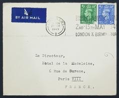 1949 Cover, House Of Commons London - Hotel De La Madeleine Paris France, England, Great Britain - 1902-1951 (Könige)
