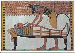 CPM   Tombe De Sennedjem Deir El-Medineh, Thèbes  Anubis Préparant La Momie - Peintures & Tableaux
