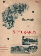 ALBUM SOUVENIR DU 5e HUSSARDS 1901 NANCY CAVALERIE - Livres