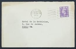 1949 Cover, Stoke Newington London - Hotel De La Madeleine Paris France, England, Great Britain - 1902-1951 (Könige)