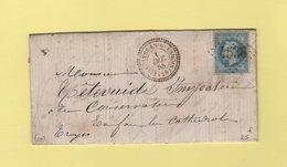 Villaines En Quesmois - 20 - Cote D'Or - GC 4536 - 1 Dec 1868 - Storia Postale