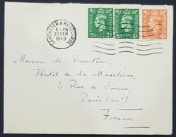 1949 Cover, Lancaster & Morecambe - Hotel De La Madeleine Paris France, England, Great Britain - 1902-1951 (Könige)