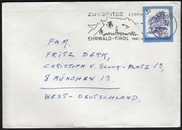 Austria Ehrwald 1970 / Zugspitze 2960 M / Mountain, Cable Car, Church / Machine Stamp ATM - Marcophilie - EMA (Empreintes Machines)