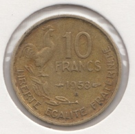 @Y@   Frankrijk   10  Centimes  1953   (4728 ) - Frankreich