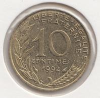 @Y@   Frankrijk   10  Centimes 1992   (4729 ) - Frankreich