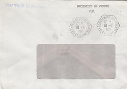 LSC 1971 - Cachet Hexagonal LONGJUMEAU DELAGRANGE (Essonne) - Poststempel (Briefe)