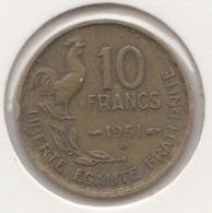 @Y@   Frankrijk   10  Centimes  1951   (4733 ) - Frankreich