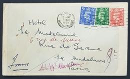 1950 Cover, Kendal Westmorland Cumbria - Hotel De La Madeleine Paris France, England, Great Britain - 1902-1951 (Könige)