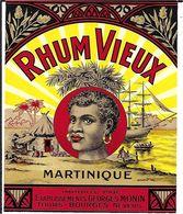 RHUM VIEUX  MARTINIQUE  MONIN  BOURGES - Rhum